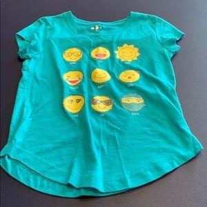 Girl's SO emoji T-shirt, Size 10